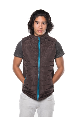 3040N-RR0056V-Chocolate- Men's Quilted LinedVest/ 1-2-2-1