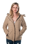 detachable hood with self belt jacket