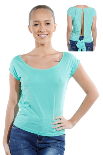 3069N-1530-Mint-Short Sleeve Top / 2-2-2