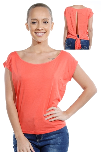 3069N-1530-Orange-Short Sleeve Top / 2-2-2
