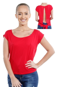 3069N-1530-Red-Short Sleeve Top / 2-2-2