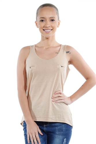 3069N-3272-Straw Cream-Tank Top / 2-2-2