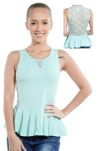 3069N-3346-Mint-Sleeveless Top / 2-2-2