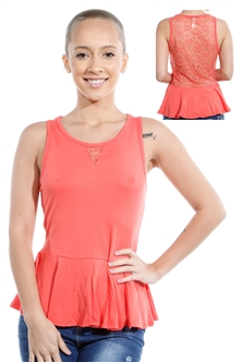 3069N-3346-Orange-Sleeveless Top / 2-2-2