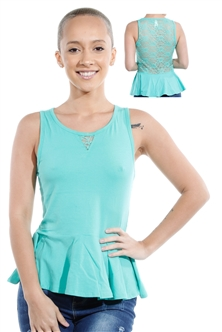 3069N-3346-Spearmint-Sleeveless Top / 2-2-2