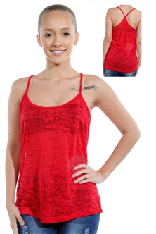 3069N-3430-Red-Spaghetti Strap Top / 2-2-2