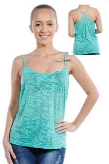 3069N-3430-Spearmint-Spaghetti Strap Top / 2-2-2