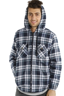 3073NN-52223A-Blk-White-Grey- Men's Hooded Jacket / 2-4-4-2