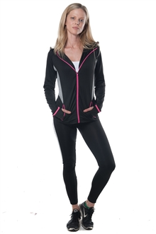 3075N-AYS231-Black/Pink -Active 2 Pcs Set Outfit / 1-2-2-1**Available in color Grey, Charcoal**