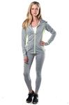 3075N-AYS233-Grey -Sport 2 Pcs Set Outfit / 1-2-2-1**available in color Black, Charcoal**