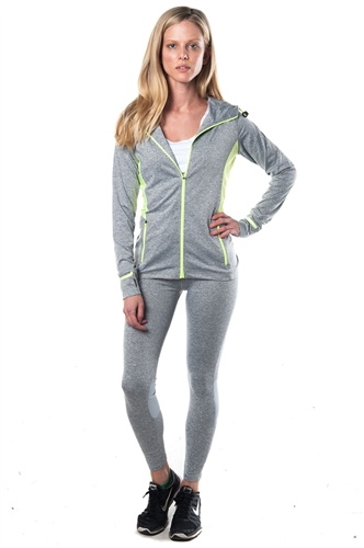 3075N-AYS233-Grey -Active 2 Pcs Set Outfit / 1-2-2-1**available in color Black, Charcoal**