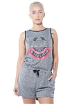 3075N-SRJ404-Charcoal-Women's Tank Top Casual Romper Shorts/ 1-2-2-1