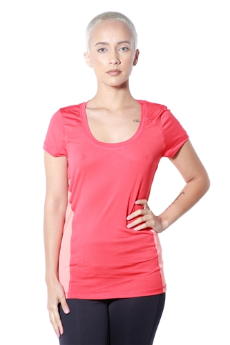 3083N-274152-Coral- Women's Active Running Top / 2-2-1