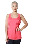 3083N-274153-Coral- Women's Active Running Racer Back Top / 1-2-2
