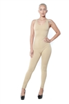 3086N-BC216-Khaki-Women's Racer Back Body Suit / 10pcs One Size Fits All