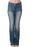 3093N-WV34568-Dark Denim- Women's Boot Cut Denim Jeans / 1-2-2-2-2-2-1