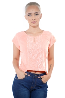 3097N-1674-Blush-Women's Front Lace High Low Top/ 2-2-2