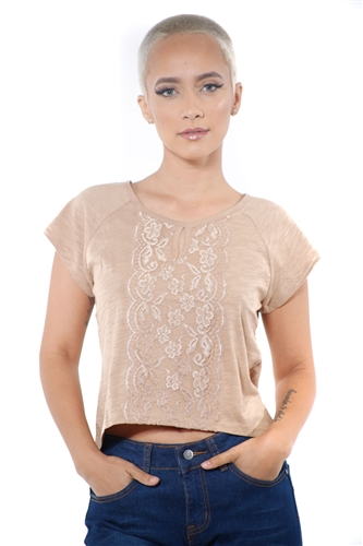 3097N-1674-Camel-Women's Front Lace High Low Top/ 2-2-2