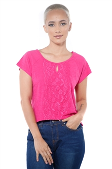 3097N-1674-Fuchsia-Women's Front Lace High Low Top/ 2-2-2