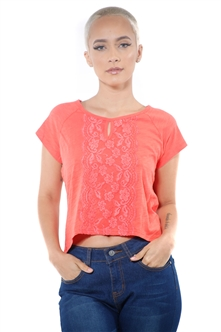 3097N-1674-Orange-Women's Front Lace High Low Top/ 2-2-2