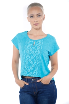 3097N-1674-Teal-Women's Front Lace High Low Top/ 2-2-2