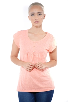 3097N-1759-Blush-Short Sleeve Top / 2-2-2