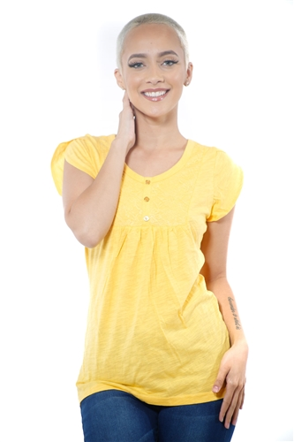3097N-1759-Gold-Short Sleeve Top / 2-2-2