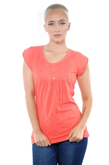 3097N-1759-Orange-Short Sleeve Top / 2-2-2