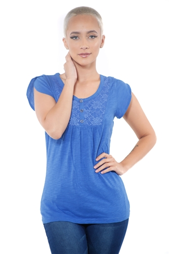 3097N-1759-Royal-Short Sleeve Top / 2-2-2