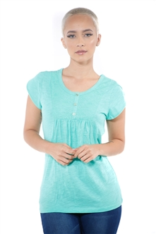 3097N-1759-Sage-Short Sleeve Top / 2-2-2