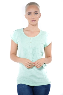3097N-1759-Spearmint-Short Sleeve Top / 2-2-2