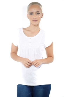 3097N-1759-White-Short Sleeve Top / 2-2-2