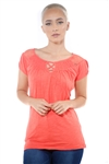 3097N-1817-Orange-Short Sleeve Top / 2-2-2