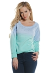 Ladies French Terry Pull Over Sweat Shirt