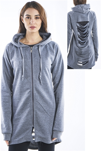 Ladies Plus Size Gothic Cut Out Fleece Hooded Mini Dress