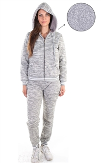 Women's Marled Hoodie and Jogger Set