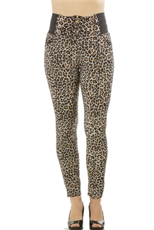 Ladies Animal Print Stretch Leggings One Size Fits All / 10 pcs