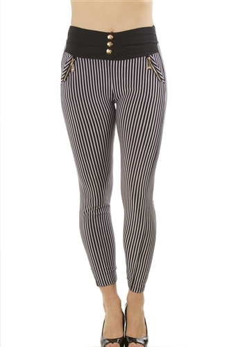 Ladies Stretch Leggings One Size Fits All / 10 pcs