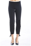 Ladies Ponte Skinny Legging Pants Slight Stretch