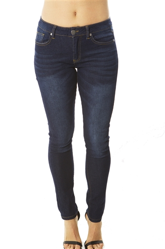 Ladies Fitted Skinny Jeans with pockets, light stretch jeans