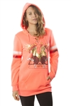 Ladies Sweatshirt Lace Up Mini Dress Hoodies-Tops, Pullover, Embellished w/ Applique