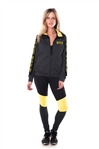 4112N-AYS240X-NY-Char-Lime -Women's Active Plus Size Sport Yoga / Zumba 2 Pcs Set Zip Up Jacket & Leggings Outfit by Special One / 1-2-2-1