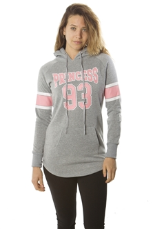 Ladies Fleece PullOver Hooded Sweatshirt w/ 2 Front Pockets / 1-2-2-1
