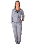Ladies Distress Jogger Pants and Hoody Set