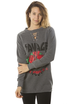 Ladies Tunic Sweatshirt Tops, Pullover, Embellished w/ Applique/ 1-2-2-1