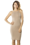 Ladies Soft Knit Bodycon Sleeveless Knee Length Tank Midi Dress/ 1-2-2-1