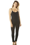 Ladies Spaghetti Strap Bodycon Tank Jumpsuit Romper / 1-2-2-1
