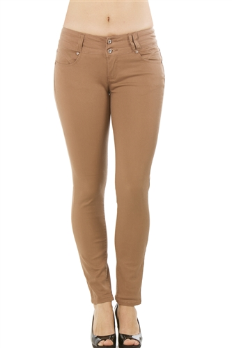 Ladies Stretch Twill Pants w/ Two Front Pockets