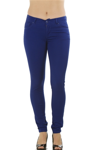 Ladies Stretch Twill Pants with Five Pockets