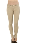 Ladies Stretch Twill Pants with Four Pockets